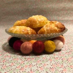 Dessous chic photo à la une Dessous de plat en boule de laine bouillie craft diy bricolage enfant