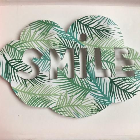 affichons nos bonnes résolutions Boite à message peinture dessin collage diy craft bricolage enfant Smile et sinon