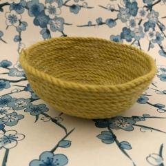 DIY panière en corde tissage