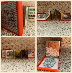 affichons nos bonnes résolutions Boite à message peinture dessin collage diy craft bricolage enfant