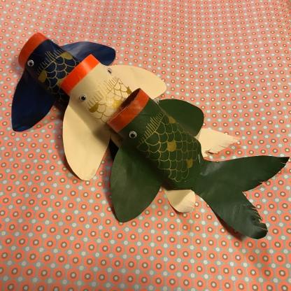 Poisson rouleau de carton nouvel an chinois