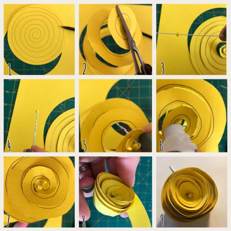 Renoncule en papier explication DIY fleurs en papier origami
