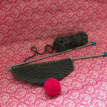 Pompon - méthode simple pompon - tricot écharpe point mousse