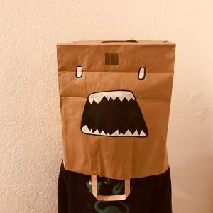 Masque sac en papier craft diy carnaval