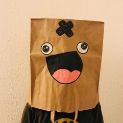 Masque rigolo sac en papier craft diy carnaval bricolage enfant masque foufou