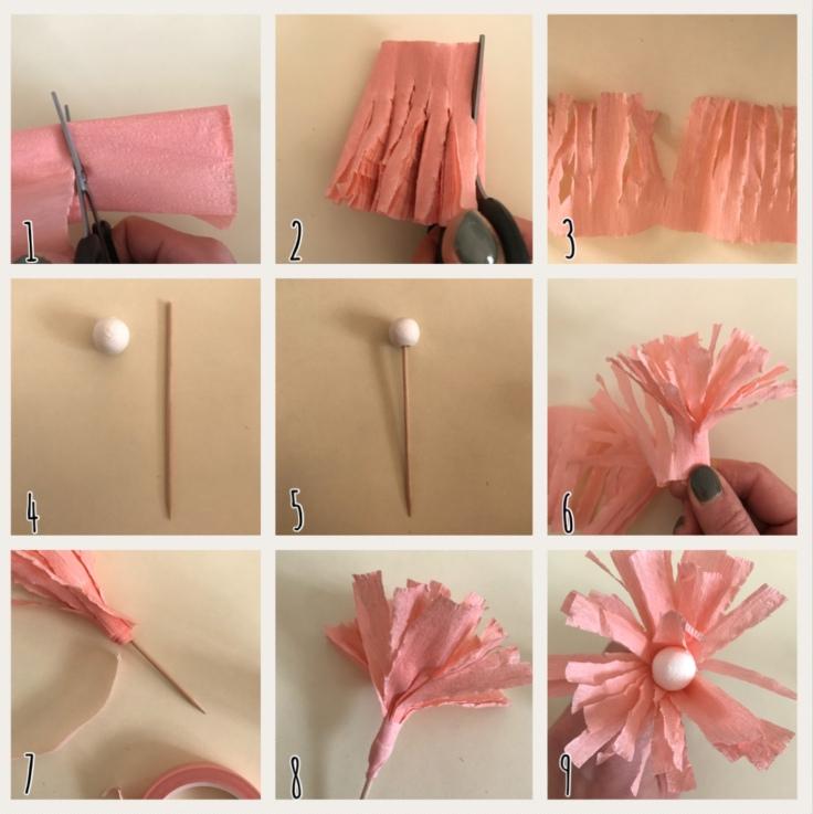 Fleur rose explication DIY fleur en papier origami