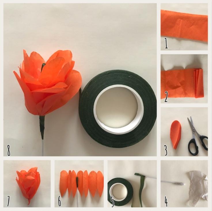 Rose en papier DIY