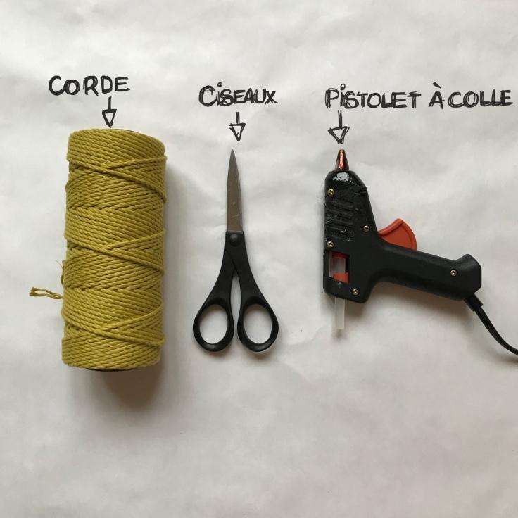 DIY panière en corde fiche matériel