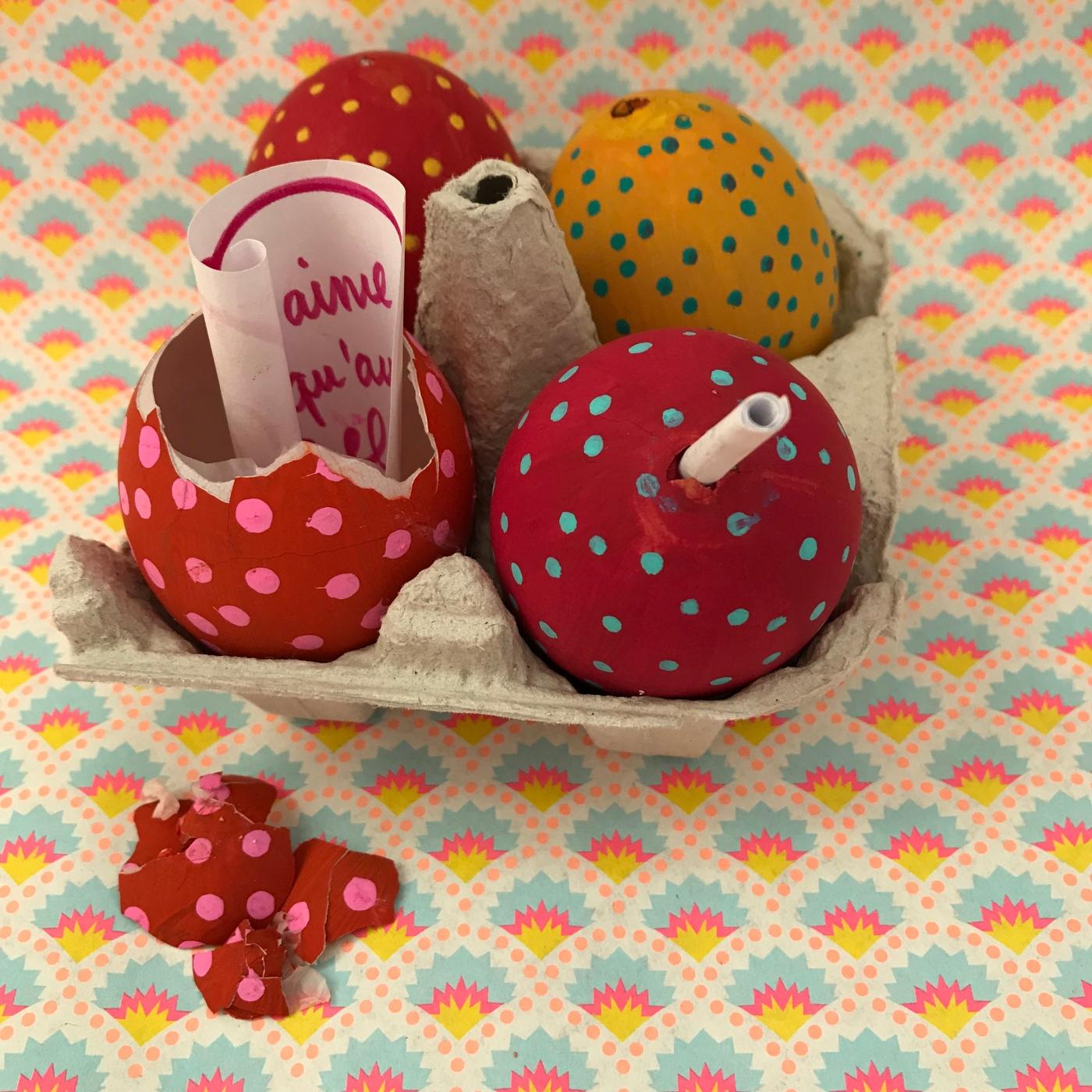 Message dans les oeufs de Pâques - diy - craft - bricolage enfant - peinture sur œuf - vider un œuf - Image à la une