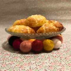 Dessous chic image à al une diy bricolage enfant kids craft dessous de plat en bille de laine bouillie