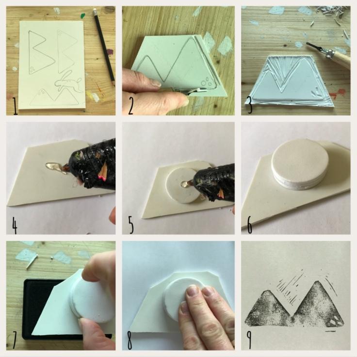 Fais tes tampons encreur toi-même DIY craft bricolage enfant Pas à pas