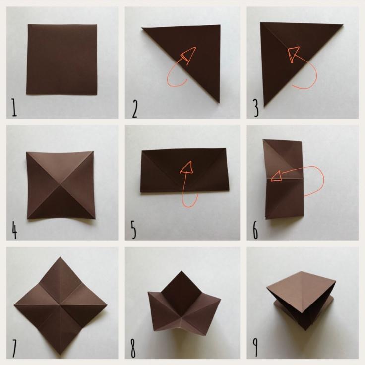 Origami mon amie bricolage enfant craft DIY guirlande diamant papier