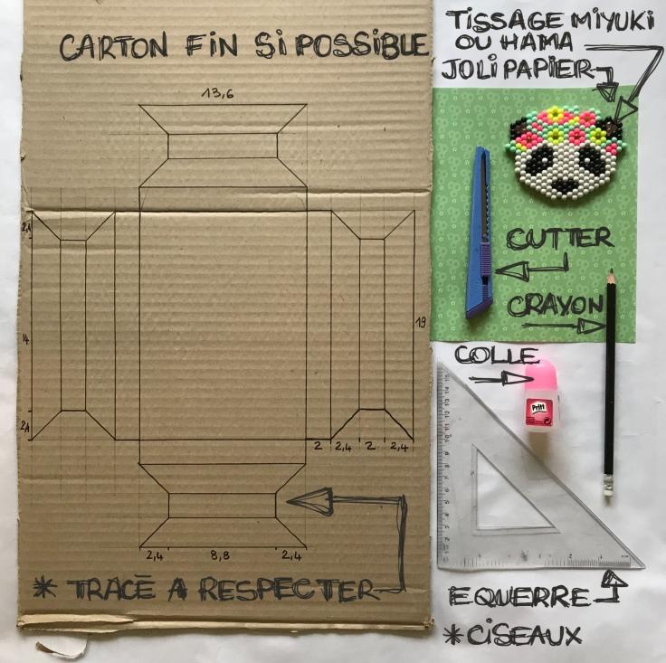 Recyclage de carton cadre en carton cadre en volume craft bricolage enfant DIY