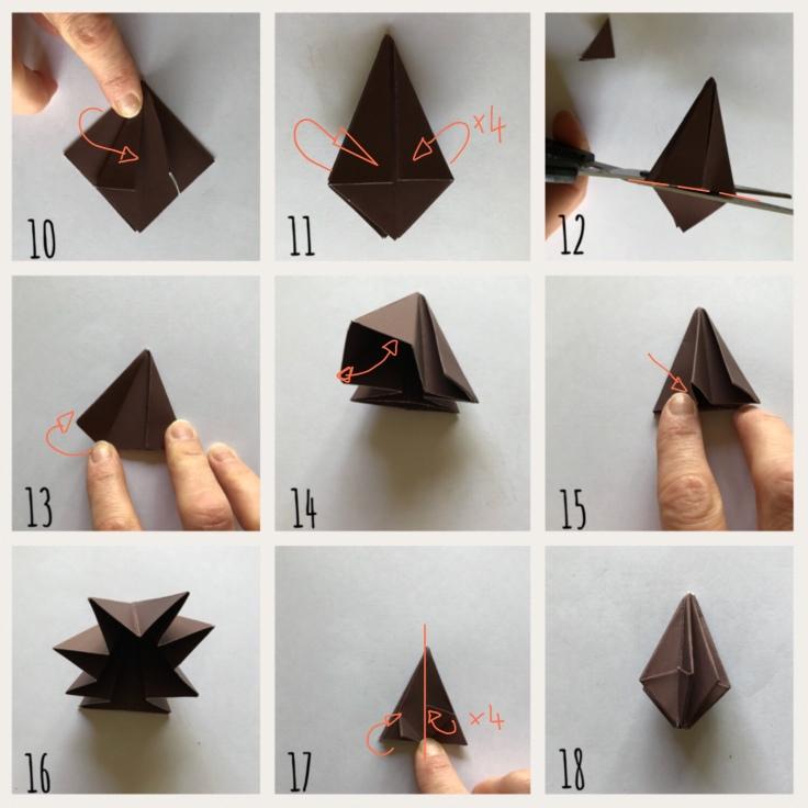 Origami mon amie bricolage enfant craft DIY guirlande diamant papier Pas à pas 2