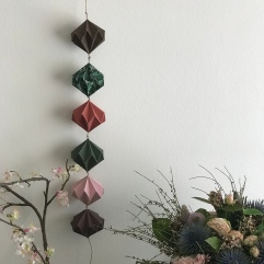 Origami mon amie bricolage enfant craft DIY guirlande diamant papier Image à la une