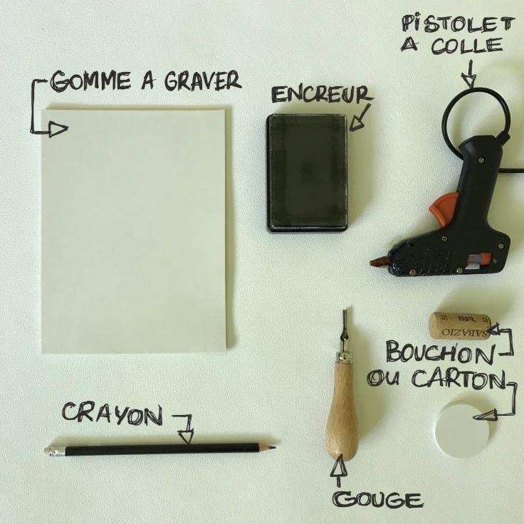 Fais tes tampons encreurs toi-même DIY craft bricolage enfant Fiche matériel