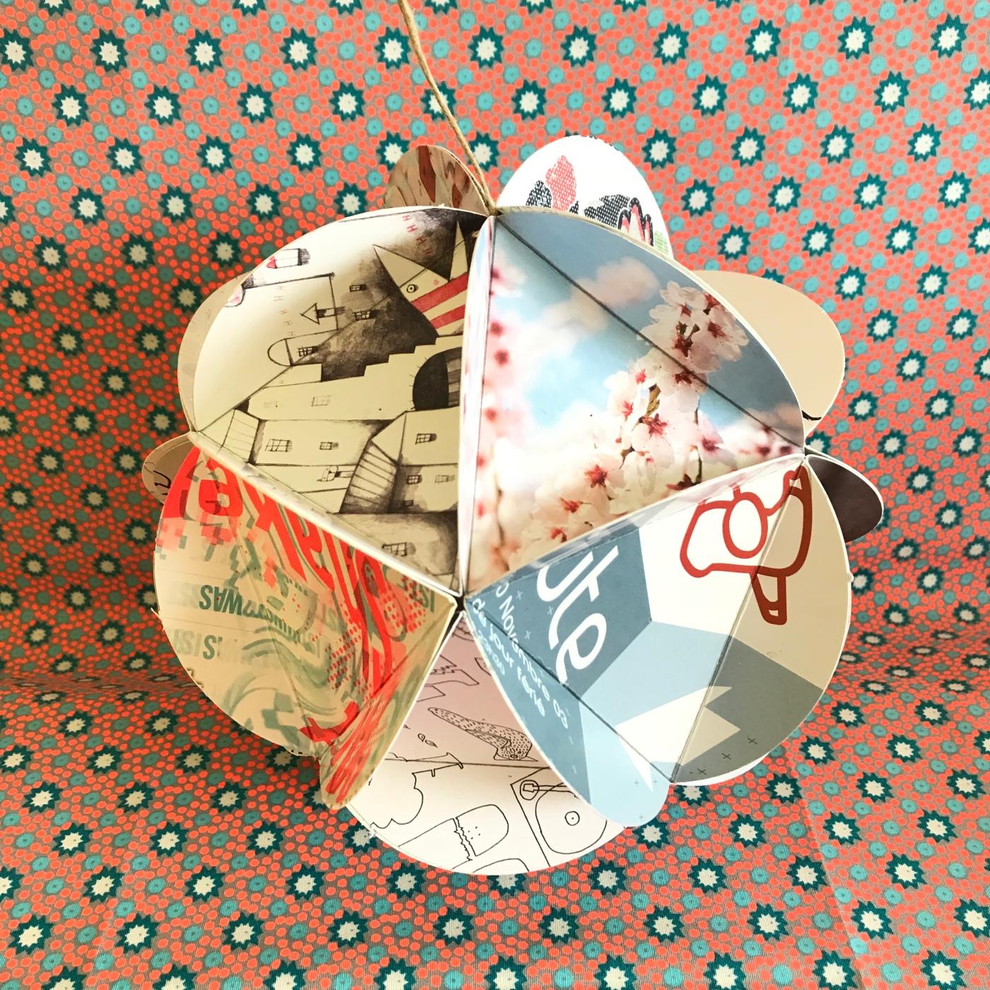 Mobile- flyer recyclage papier origami craft bricolage enfant DIY Image à la une