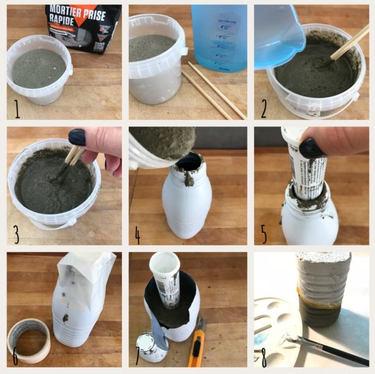 Lançons des fleurs à nos mamans ... et le vase qui va avec ! Bricolage enfant DIY craft vase en ciment cadeau fête des mères Pas à pas