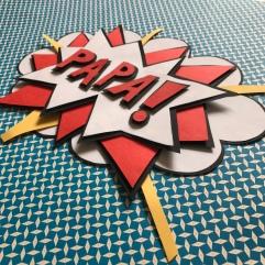 Super papa diy bricolage craft carte pop-up fête des pères comics super héros Image à la une