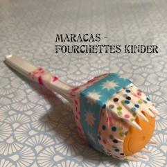 Maracas fourchettes Kinder et sinon Instrument de musique recyclage craft DIY bricolage enfant