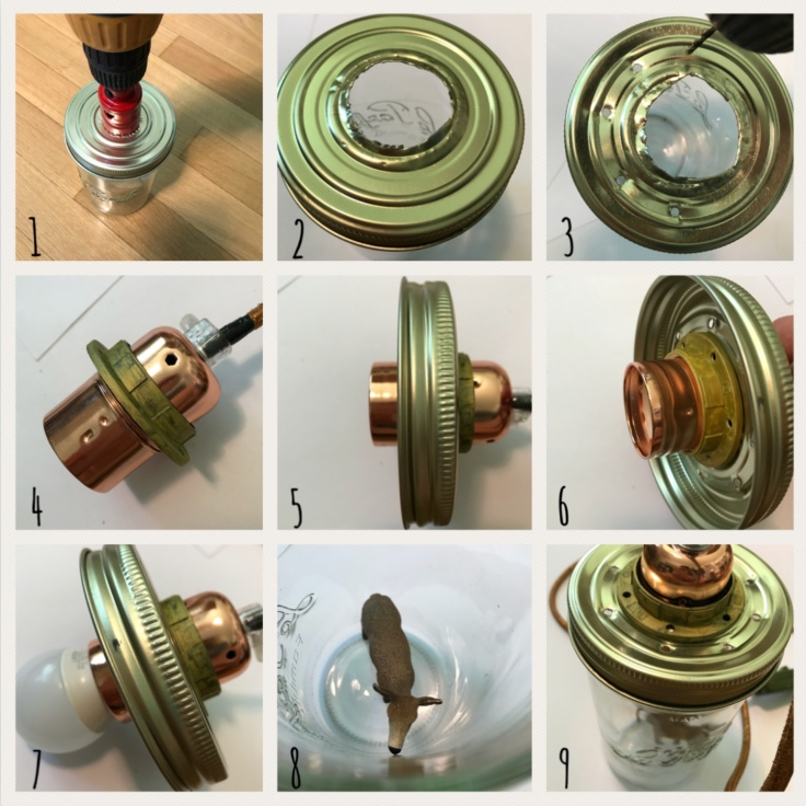 De la lumière en pot - bricolage diy craft lampe de chevet en pot avec figurine - pas à pas - lampe en pot