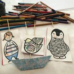 Petit théâtre d'été simplissime DIY bricolage enfants craft recyclage jeu fait maison imagination créativité Et sinon histoire en mer
