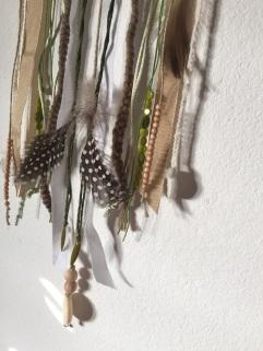 Attrape rêves indien diy bricolage enfant craft plumes ruban Et sinon vert