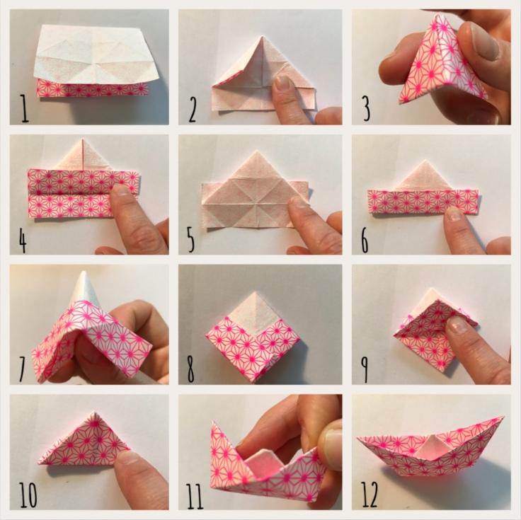 Vive les vacances : le décor est planté ! Décor en boîte bricolage enfant craft DIY grandes vacances été message box bateau origami