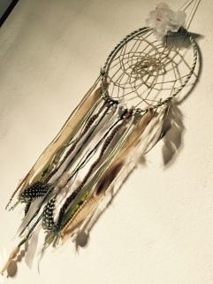 Attrape rêves indien diy bricolage enfant craft plumes ruban Et sinon vert 2