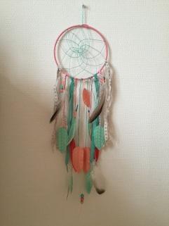 Attrape rêves indien diy bricolage enfant craft plumes ruban Et sinon corail