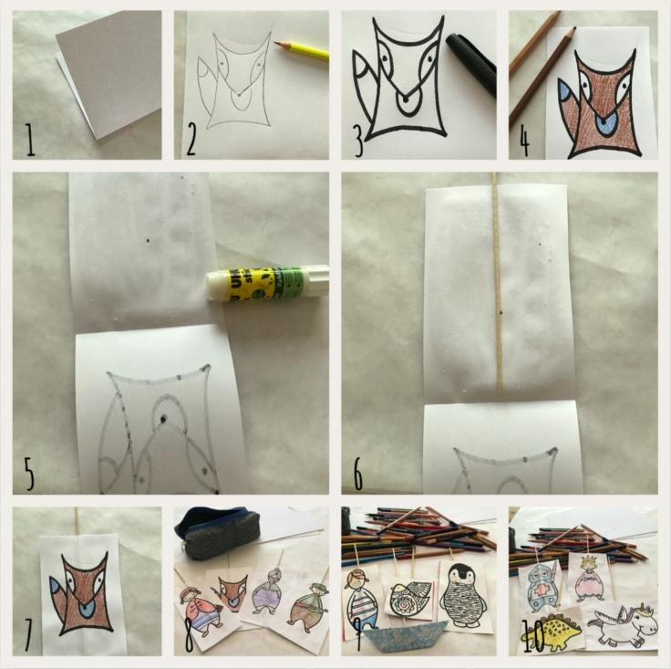 Petit théâtre d'été simplissime DIY bricolage enfants craft recyclage jeu fait maison imagination créativité Pas à pas personnages
