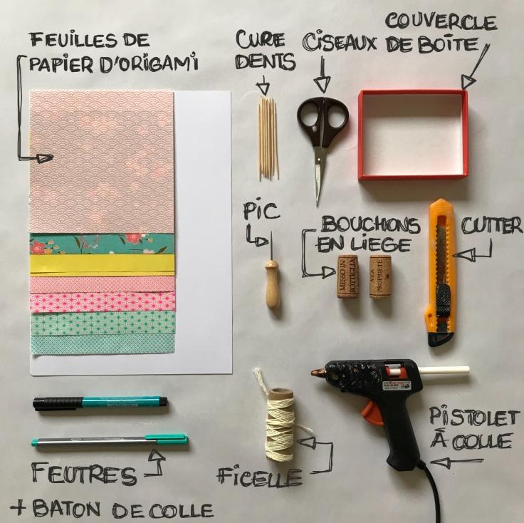 Vive les vacances : le décor est planté ! Décor en boîte bricolage enfant craft DIY grandes vacances été message box Fiche materiel