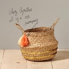 Panier d'été pompons perles ruban customisation déco rafraîchissement bricolage diy craft enfant famille et sinon 2