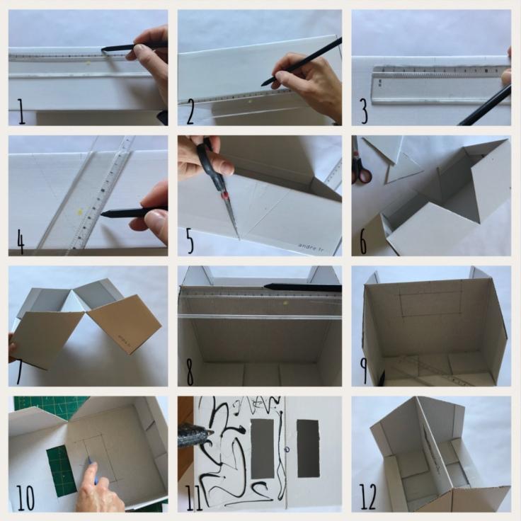 La folie du rangement continue ! DIY bricolage enfant craft for kids recyclage boîte de rangement transportable Pas à pas 1