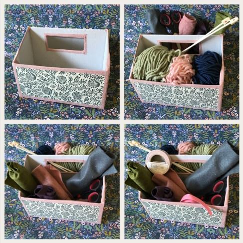 La folie du rangement continue ! DIY bricolage enfant craft for kids recyclage boîte de rangement transportable Image à la une