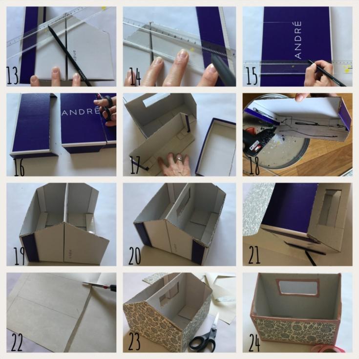 La folie du rangement continue ! DIY bricolage enfant craft for kids recyclage boîte de rangement transportable Pas à pas 2