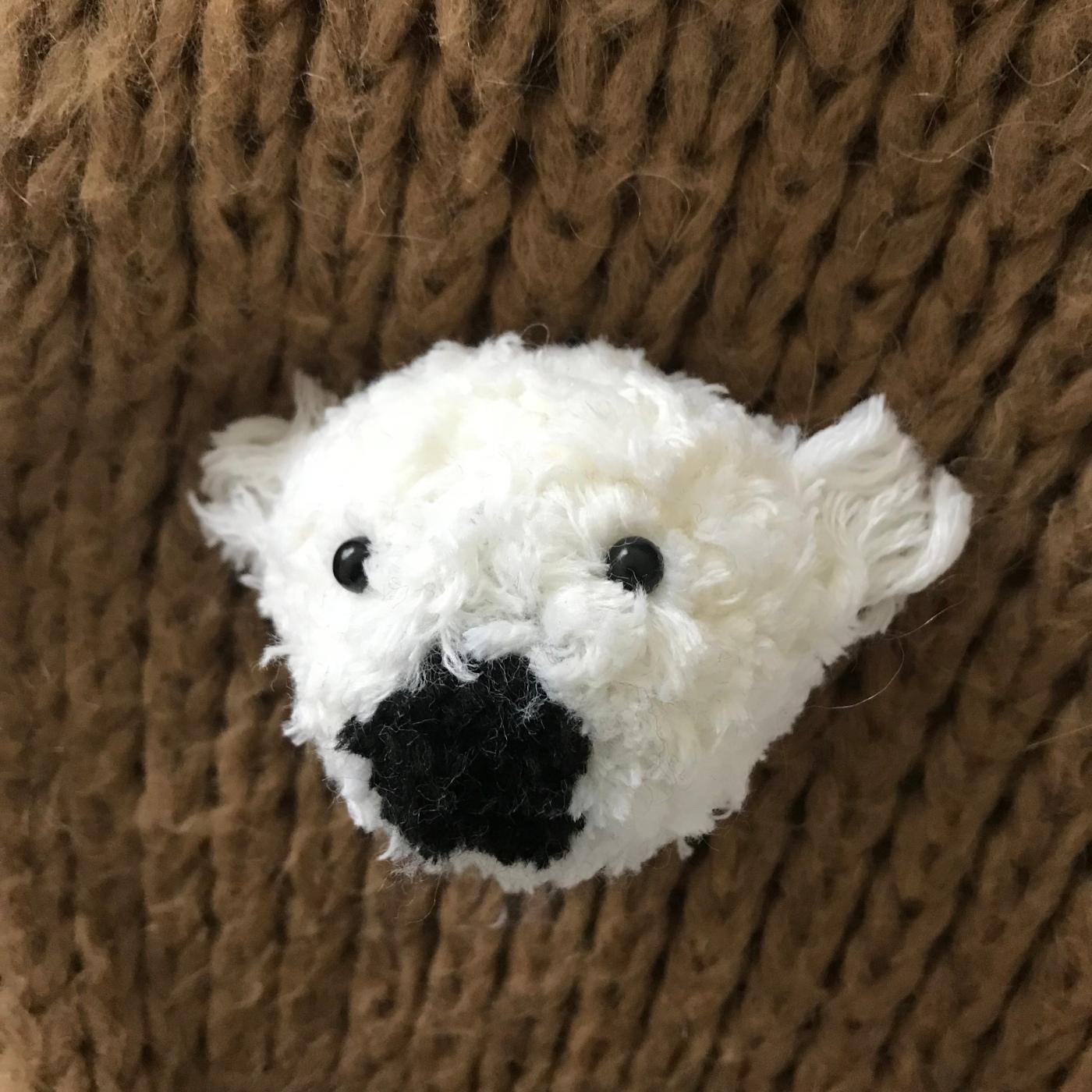 Nounours polaire broché en vue - broche - laine - pompon animal - bricolage enfant - DIY - craft for kids - Image à la une