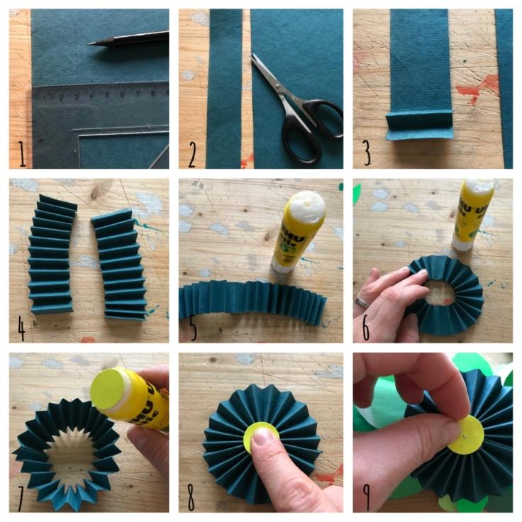 Couronne de porte - avent - bricolage enfant - craft for kids - DIY - bricolage papier - Noël - pas à pas - grosse cocarde