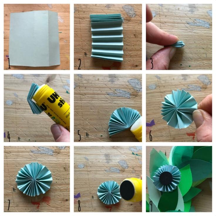 Couronne de porte - avent - bricolage enfant - craft for kids - DIY - bricolage papier - Noël - origami - pas à pas - petite cocarde