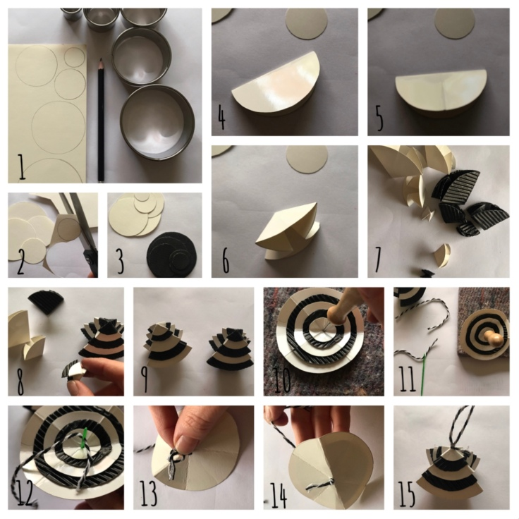 Décoration sapin pour sapin - DIY - bricolage enfant - craft for kids - papier - origami - recyclage - Pas à pas