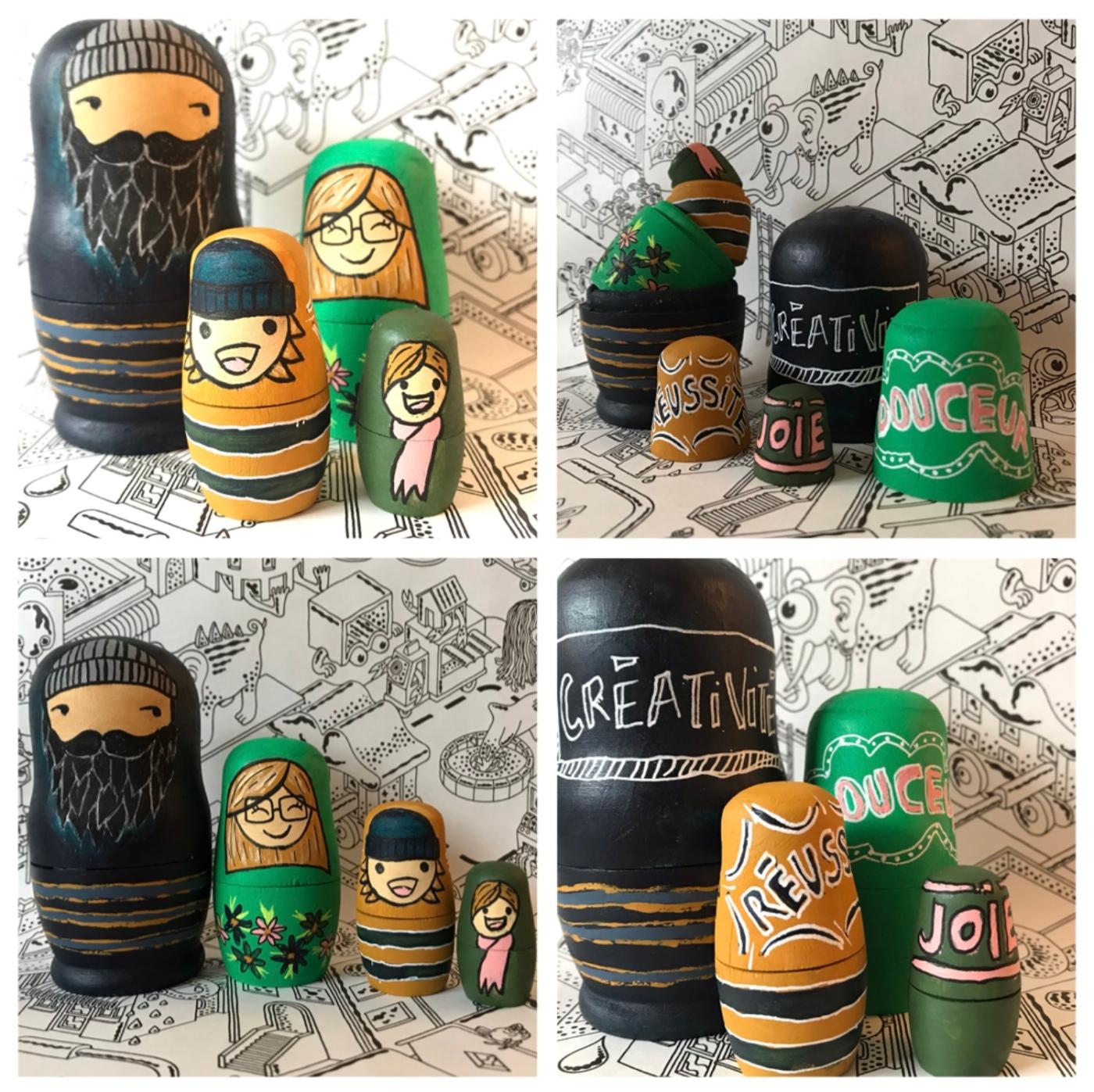 Tous nos vœux de bonne année - poupées gigognes personnalisé - cadeaux - vœux - peinture - bricolage enfant - craft for kids - DIY - Image à la une