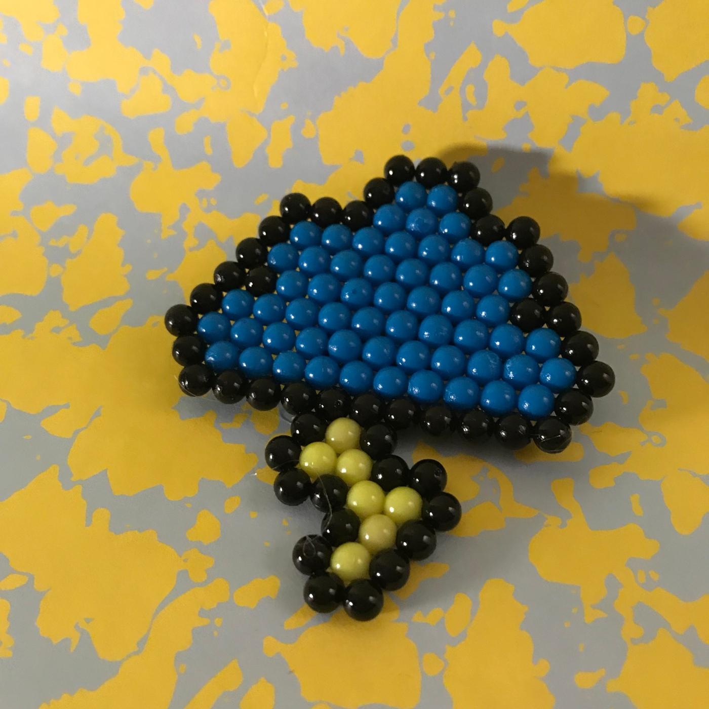 Ma passion pour les perles à eau - bricolage enfant - DIY - craft for kids - broche aquabeads - Image à la une