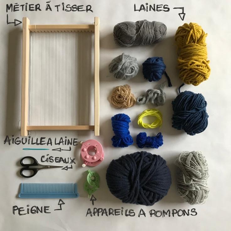 Tissage d'hiver - DIY - bricolage enfant - craft for kids - laine - métier à tisser -