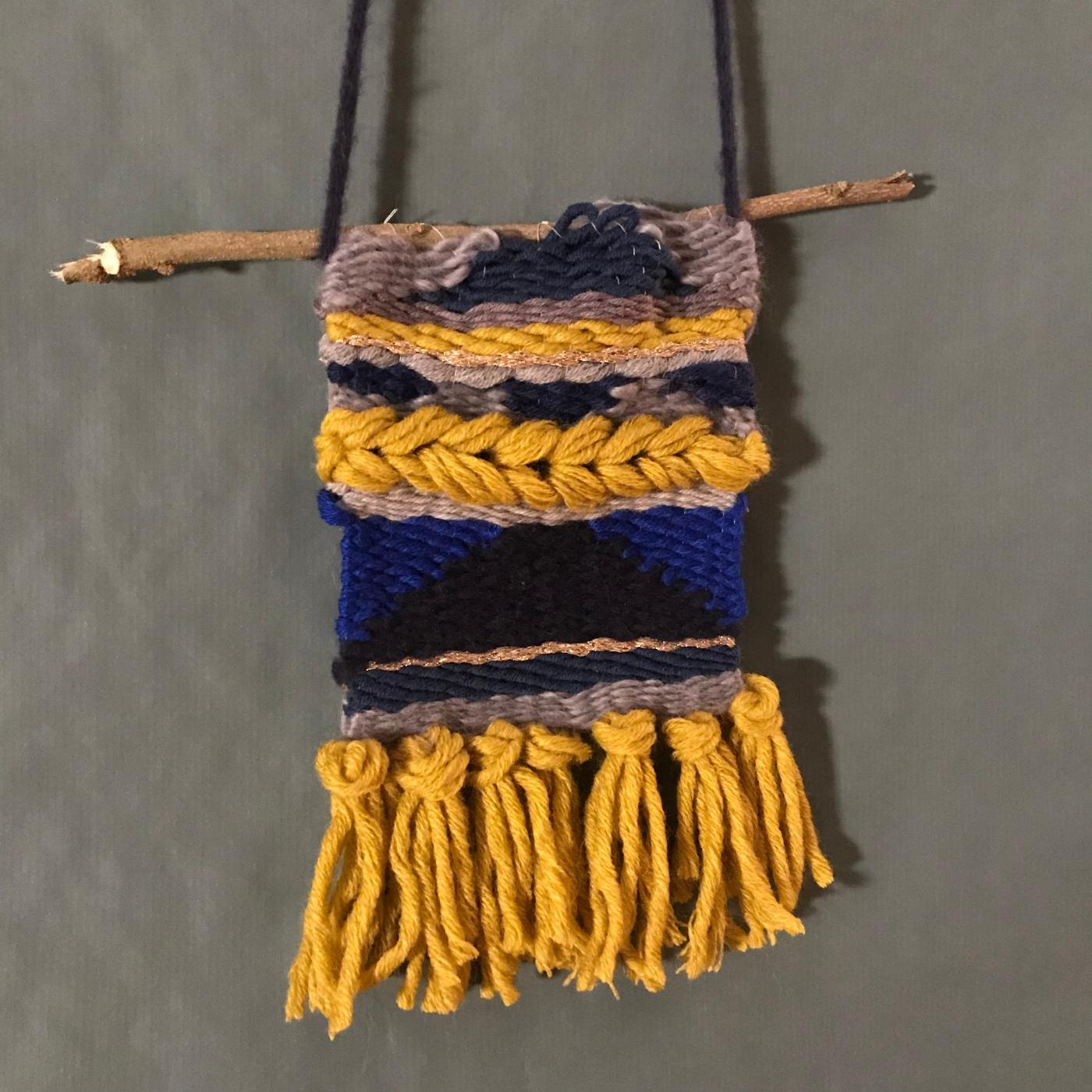 Tissage d'hiver - DIY - bricolage enfant - craft for kids - laine - métier à tisser - Image à la une