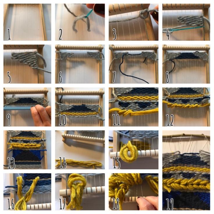 Tissage d'hiver - DIY - bricolage enfant - craft for kids - laine - métier à tisser - Pas à pas