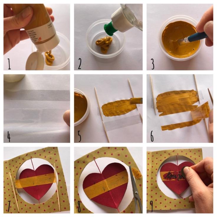 Petit message à gratter pour Valentin - DIY - bricolage enfant - craft for kids - saint Valentin - carte à gratter - message d'amour -message secret - cœur - cœur qui tourne - Pas à pas message à gratter