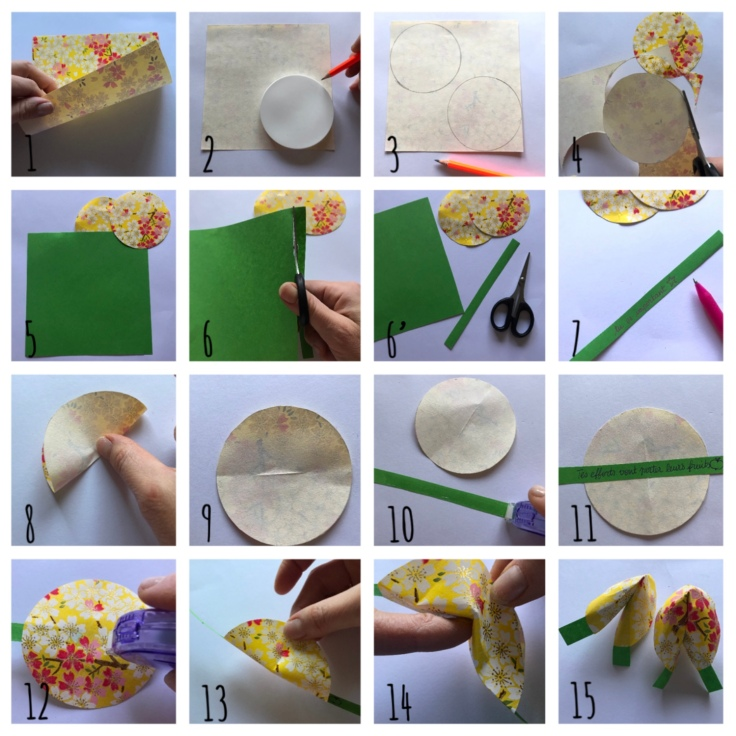 Biscuits de la fortune en papier - DIY - bricolage enfant - craft for kids - nouvel an chinois - origami - pas à pas
