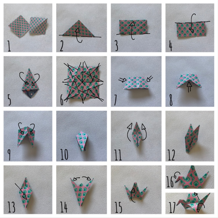 Une hirondelle ne fait pas le printemps- bricolage enfant - DIY - craft for kids - déco sou cloche - printemps - origami - oiseaux - branchages - plastique dingue - pas à pas origami 2