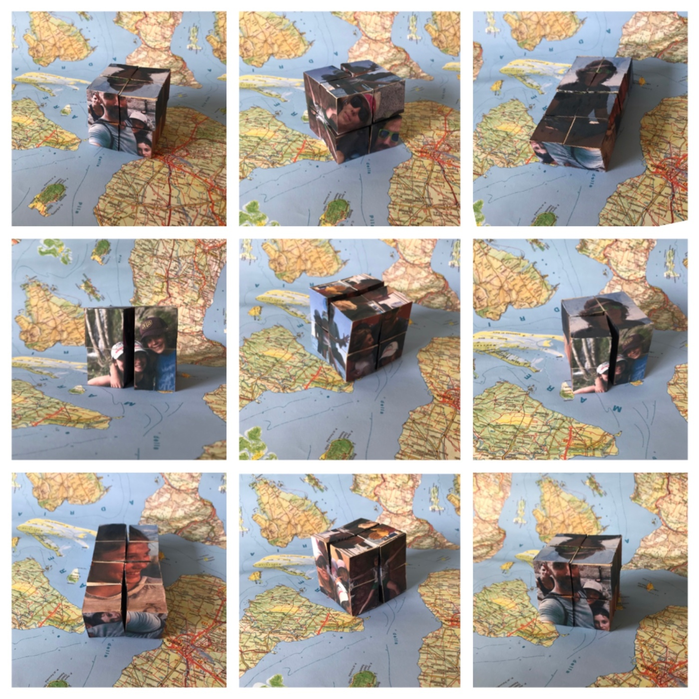 Cube magique photographique -bricolage enfant - DIY - craft for kids - album photo - origami - collage - image à la une