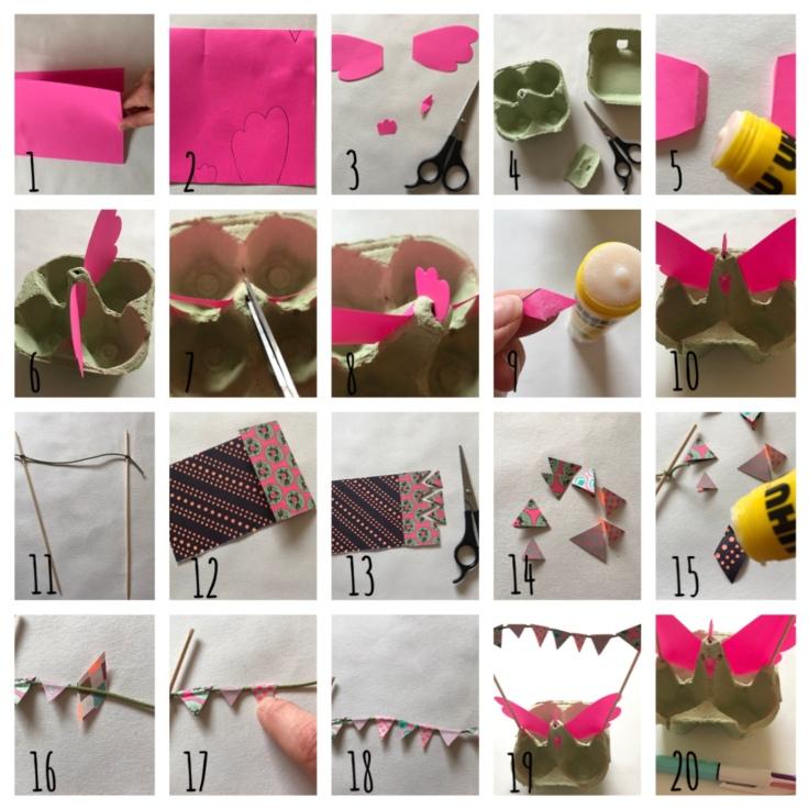 Pâques approche - DIY - bricolage enfant - craft for kids - décoration de Pâques - poule - boîte à œufs - papier - pas à pas